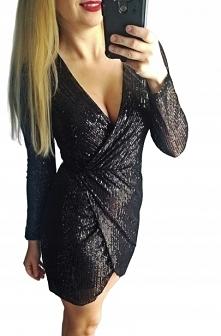 Sukienka cekinowa czarna Do zakupienia po kliknięciu w zdjęcie
