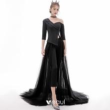 Moda Czarne Kombinezon 2020