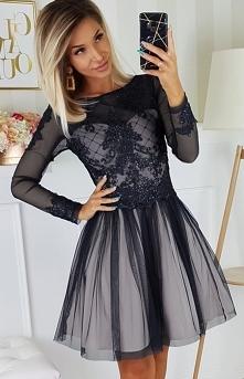 Bicotone Czarna sukienka z ...