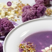 Zupa z fioletowego kalafior...