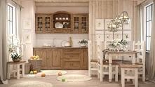 kuchnia z litego drewna w rustykalnym stylu meble-woskowane.com.pl
