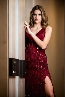 Porywająca bordowa Eliza - sukienka wieczorowa BB Studio