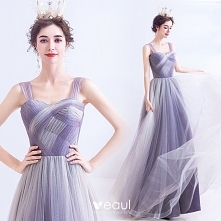 Elegancka Lawenda Sukienki ...