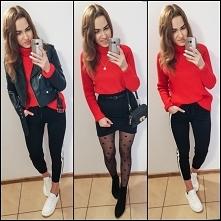 #redsweater