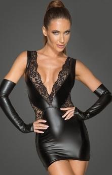 Noir Erotyczna sukienka wet...