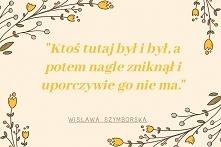 Poezja, cytaty Wisławy Szym...