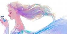 Elsa z salamandrą.