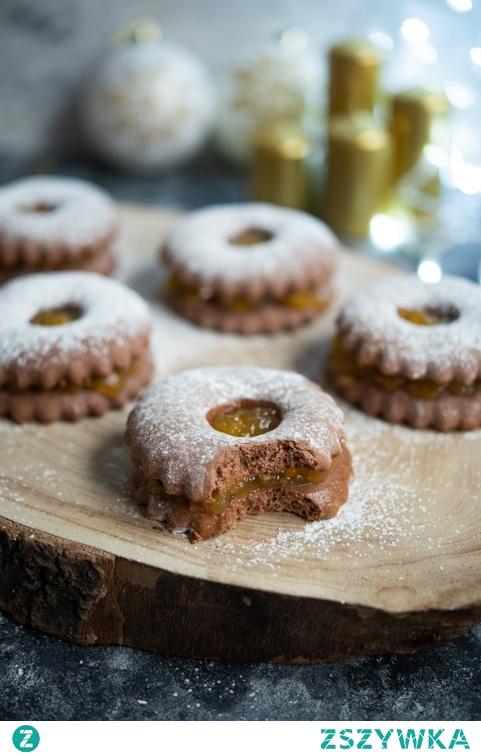 Piernikowe ciasteczka z dżemem