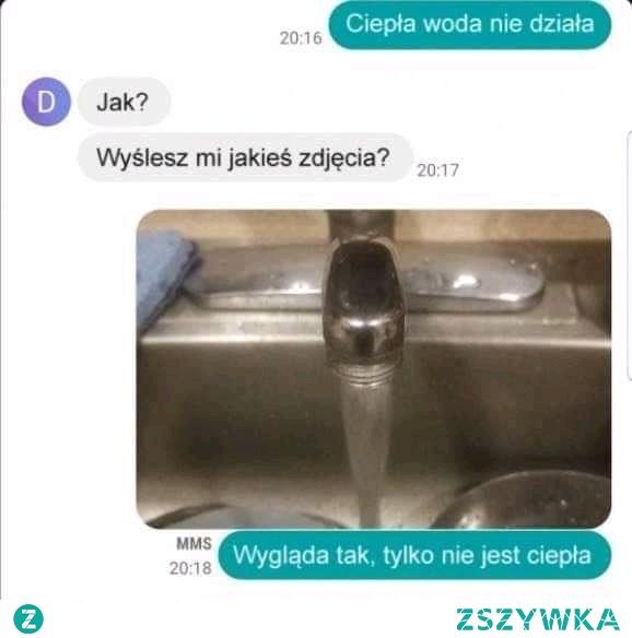 a ciepłej wody brak