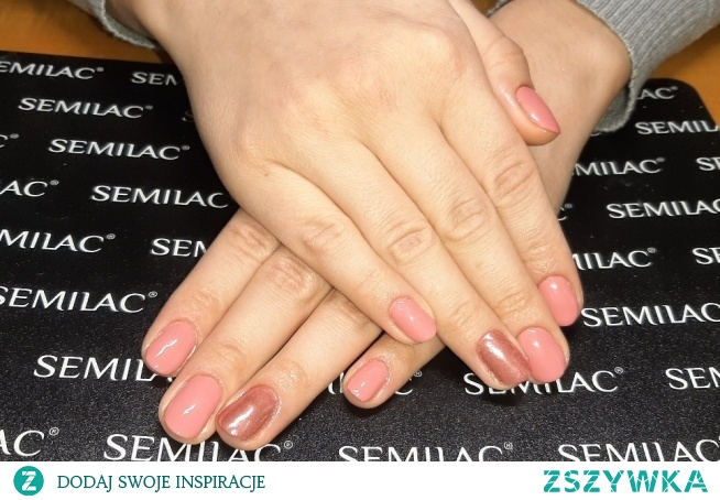 Semilac 200, Mistero milano chrome effect rose