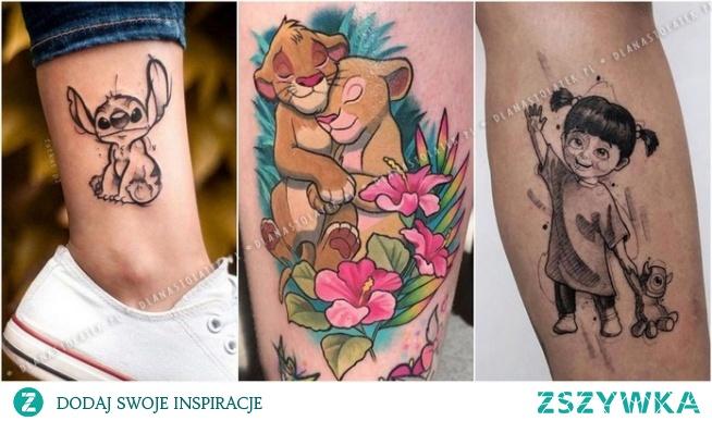 Najpiękniejsze tatuaże z motywami z bajek