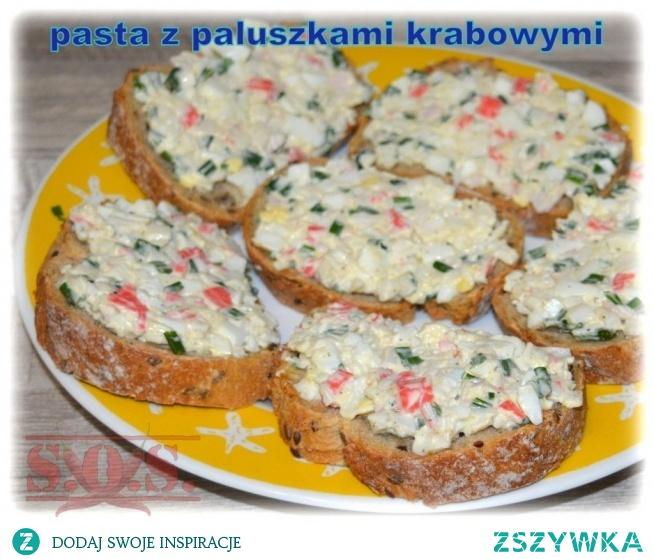 Pasta z paluszkami krabowymi - apetycznie wyglądająca… smaczna ….łatwa w przygotowaniu – jest doskonała do kanapek!;)