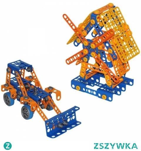 Zestaw Narzędzi Młyn Koparka 330 elem Mały Konstruktor Klocki