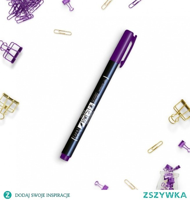 Brush pen fioletowy
