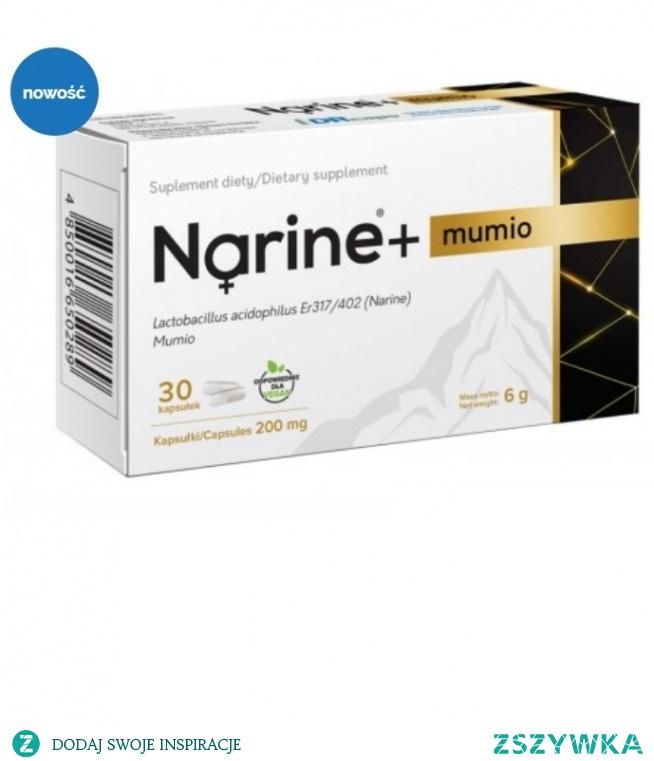 Narine+ Mumio to suplement oparty o Narine bakterię oraz liofilizowaną masę mumio.
