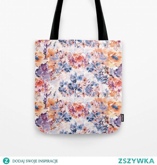 Torba ze wzorem Floral watercolor - series 1 od WzoryOzdobne