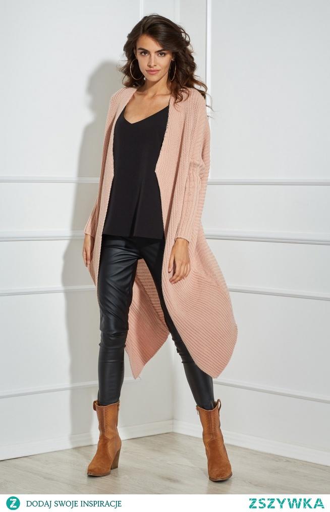 Sweter Kardigan Model OLL87 Pink – Oohlala #bestfashionstore #moda #modadamska #kardigan #sweter #fashion