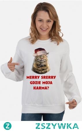 Przekorna bluza z wrednym kociakiem którego nie obchodzą święta a jedyne o czym myśli to jego karma :) Do kupienia po kliknięciu w zdjęcie. Może stanowić fajny pomysł na prezent dla bliskiej osoby lub sposób na wyrażenie siebie.