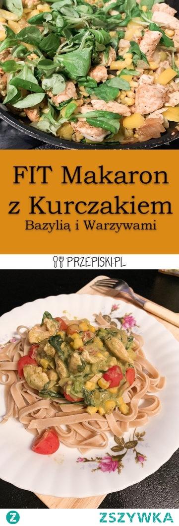 FIT Makaron z Kurczakiem Bazylią i Warzywami
