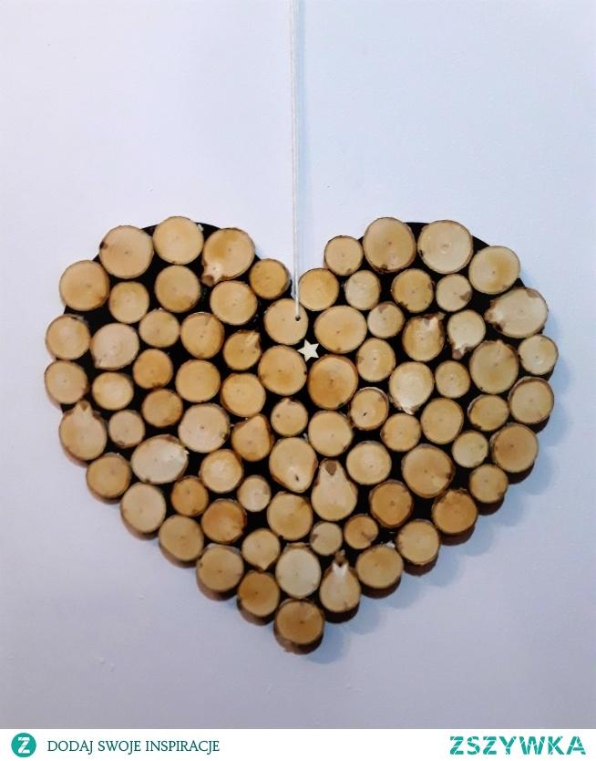 Serce z plastrów brzozy. ociepli każde wnętrze. Zapraszam na pieknerzeczy.com.pl