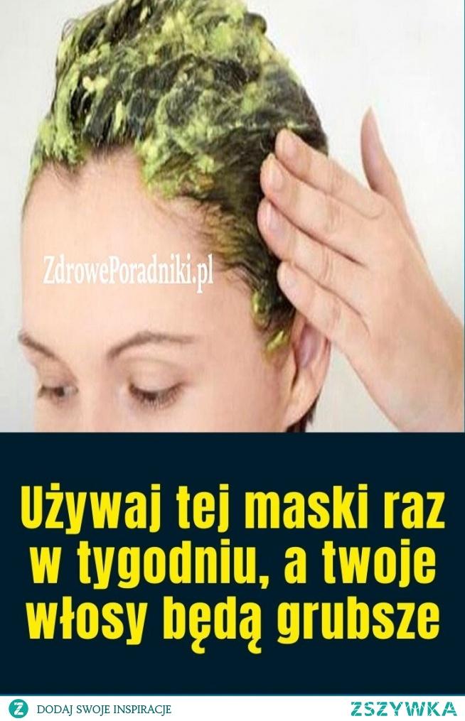 Używaj tej maski raz w tygodniu, a twoje włosy będą grubsze