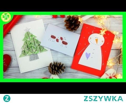 Kartka Świąteczna z Bałwanem, Choinką lub Reniferem - 3 instrukcje DIY