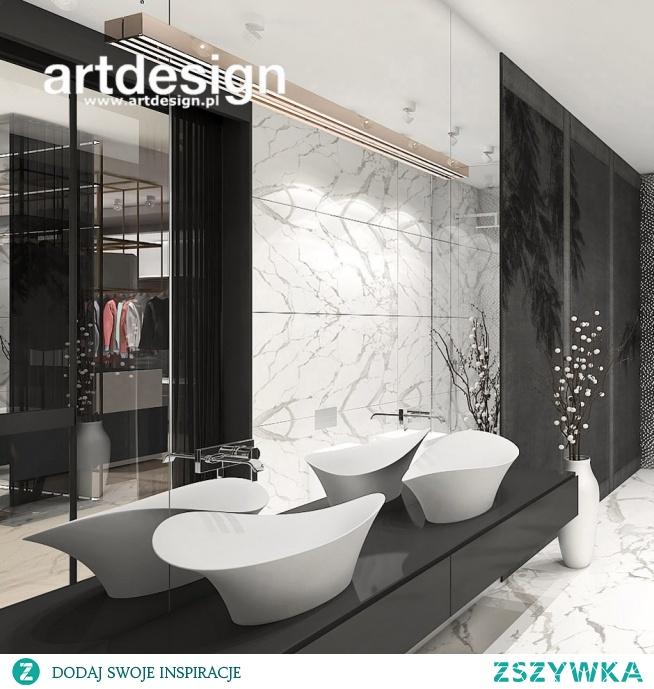 Nowoczesna w formach i materiałach łazienka przy sypialni   UNPARALLELED ELEGANCE   Wnętrza domu
