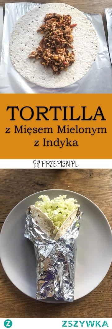 Tortilla z Mięsem Mielonym z Indyka