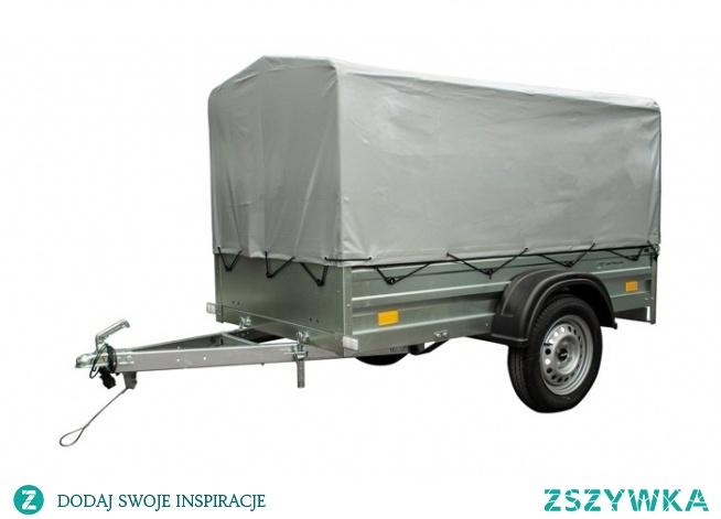 Przyczepka samochodowa lekka DMC 750 kg UNITRAILER Garden Trailer 200x106 cm z plandeką i stelażem