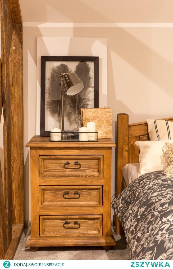 woskowane szafki nocne z litego drewna