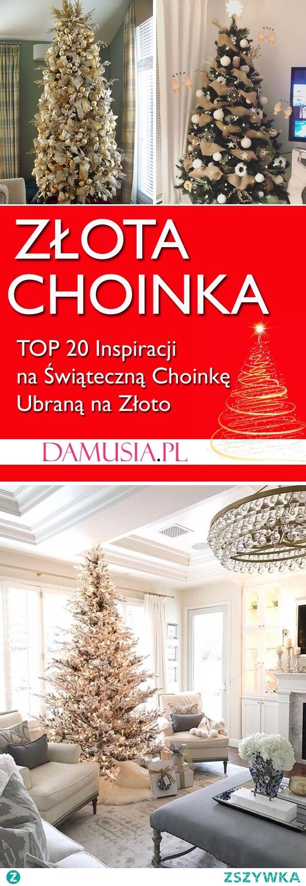 Złota Choinka: TOP 20 Świątecznych Inspiracji na Choinkę Ubraną na Złoto