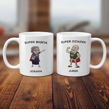 Zestaw kubków Super Babcia i Super Dziadek