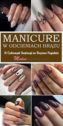 Manicure w Odcieniach Brązu...