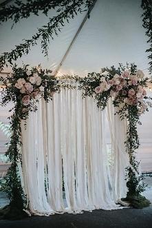 ślubne tło kwiaty