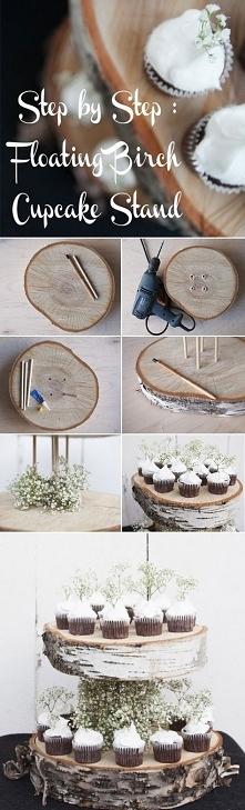 rustykalna drewniana patera