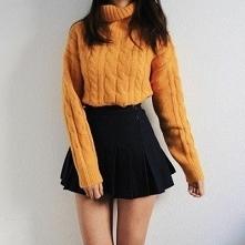 OUTFIT♡♡♡ • golf pomarańczo...