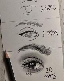 Rysunek - Im więcej poświęcacie czasu swojemu rysunkowi tym będzie on bardziej dopracowany. I sądzę, że gdyby na rysunek tego oka poświęcono 30 minut wyszedłby jeszcze lepiej i ...