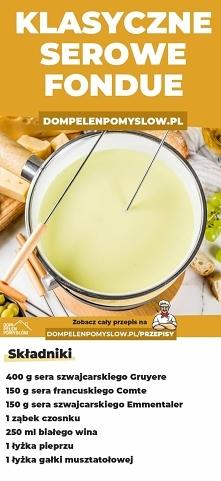 Klasyczne serowe fondue
