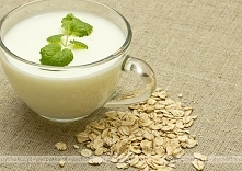 Zupa mleczna z  płatkami ow...