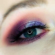 makijaż oka zrobiony paletk...
