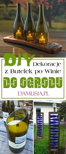 DIY Dekoracje z Butelek po Winie do Ogrodu – Najciekawsze Pomysły