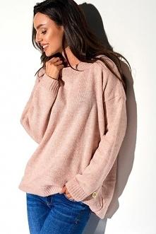 Luźny sweter damski półgolf...
