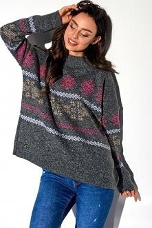 Sweter damski półgolf w świ...