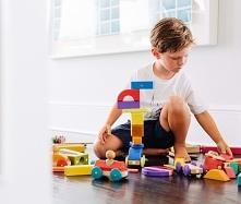 Drewniane zabawki magnetycz...