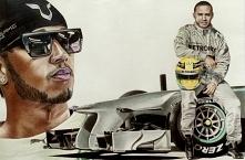 Lewis Hamilton, portret wyk...