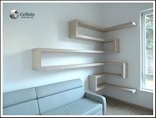 Narożne półki na książki