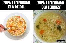 Zupa z literkami