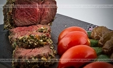 Stek z sosem z zielonego pi...