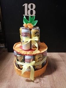 Tort piwny na osiemnastke