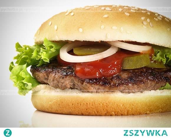 Chimichurri hamburger z opiekanymi platanami